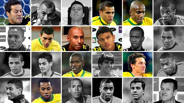 montagem Seleção Copa do Mundo 2010 1 ano (Foto: Editoria de Arte)