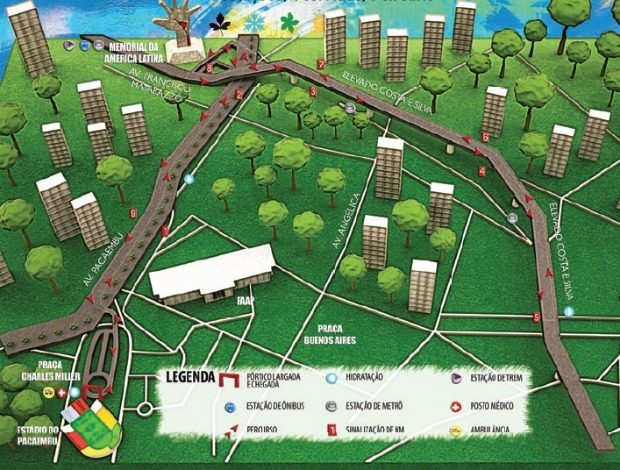 Percurso Circuito das Estações São Paulo corrida (Foto: Reprodução / Site oficial)