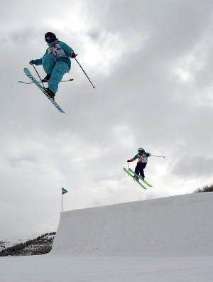Esqui  slopestyle Copa do Mundo de Utah (Foto: Getty Images)