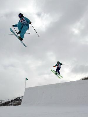 Esqui  slopestyle Copa do Mundo de Utah (Foto: Getty Images)