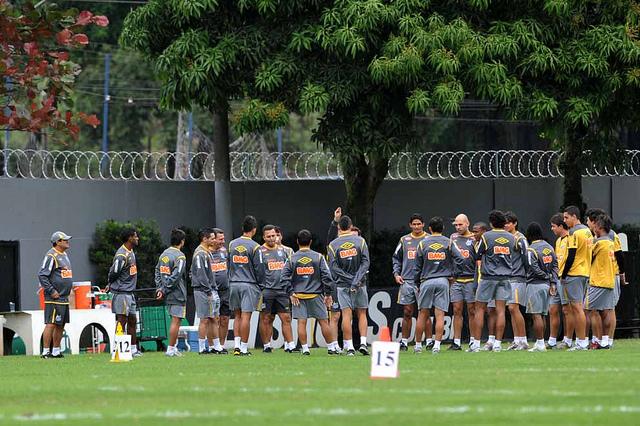 Time do Santos (Foto: Ricardo Saibun/Divulgação Santos FC)