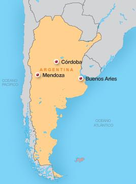 mapa terremoto argentina 2 (Foto: arte esporte)