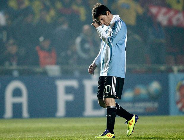 Messi no jogo da Argentina contra a Colômbia (Foto: Reuters)