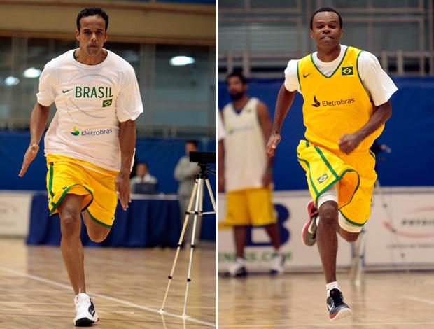 Arthur e Nezinho na seleção de basquete (Foto: Divulgação / Gaspar Nobrega)
