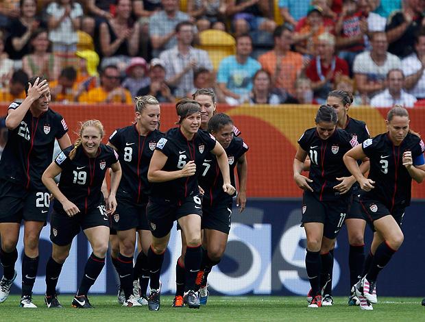 jogadoras Estados Unidos gol brasil copa do Mundo futebol feminino (Foto: Agência Reuters)