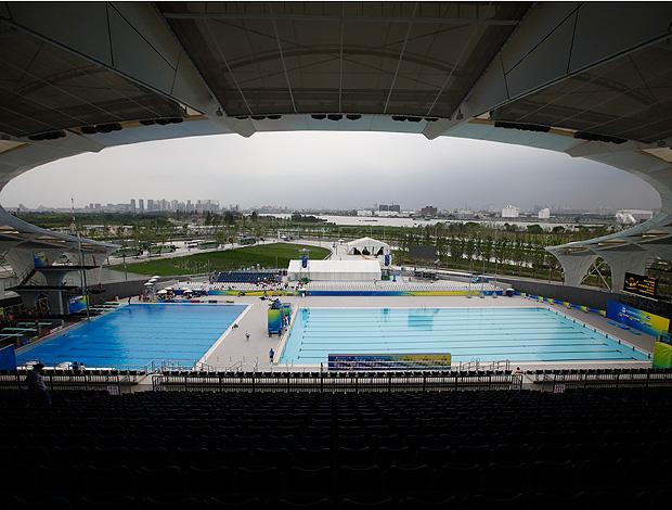 complexo de natação parque aquático china shangai (Foto: agência AP)