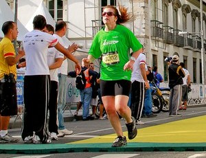 Christiane Azevedo corrida Meia Maratona do Rio (Foto: Divulgação / Arquivo pessoal)