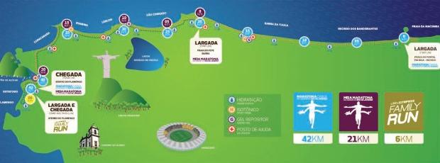 Percurso Maratona do RIo corrida (Foto: Reprodução / site oficial)