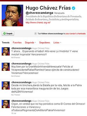 Hugo Chaves Twitter (Foto: Reprodução)
