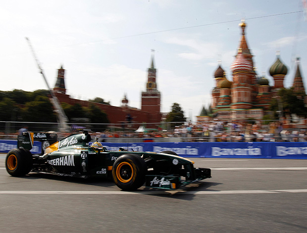 Karum Chandhok lotus evento moscou racing (Foto: agência AP)