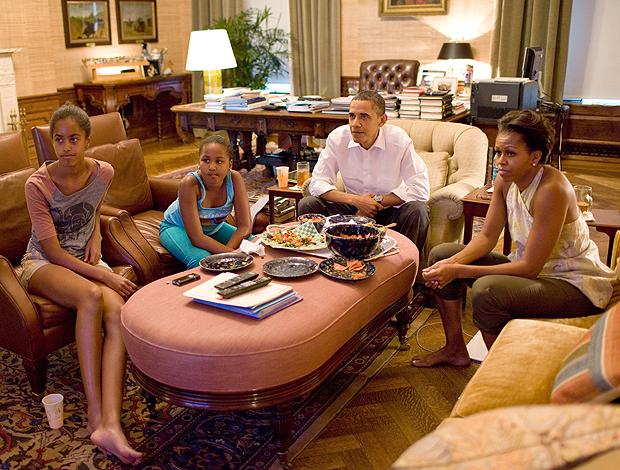 Obama assiste futebol feminino (Foto: Divulgação)