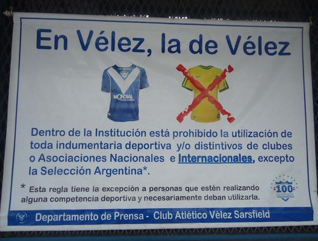 Vélez Sarsfield ct aviso (Foto: Marcos Felipe/Globoesporte.com)