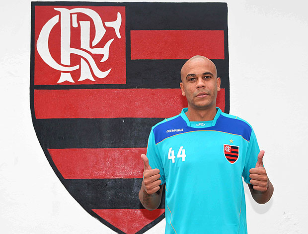 Alex Silva no treino do Flamengo (Foto: Leandra Benjamin / FlaImagem)