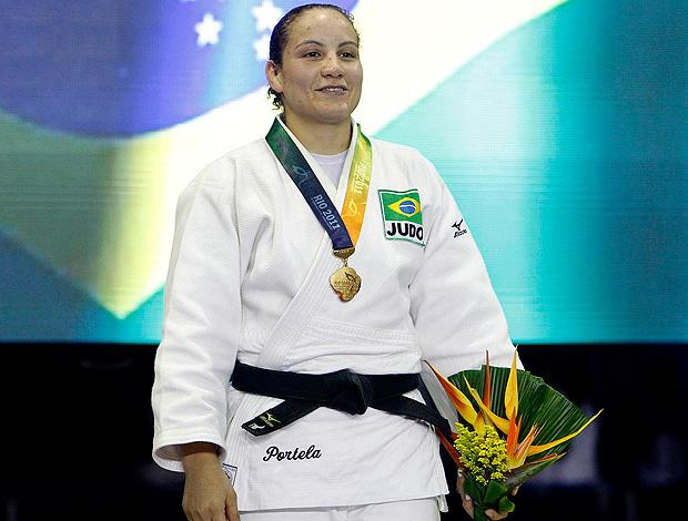 Maria Portela judô Jogos Mundiais Militares (Foto: Divulgação)