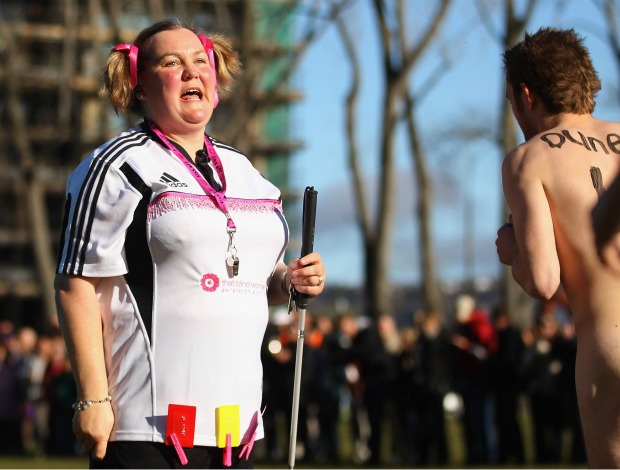 rugbi pelados nova zelândia juíza cega (Foto: Getty Images)