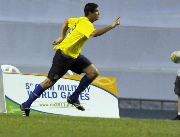 Jogos Militares futebol Francis Brasil x Qatar bronze (Foto: Alexandre Loureiro / Ginga Fotos)