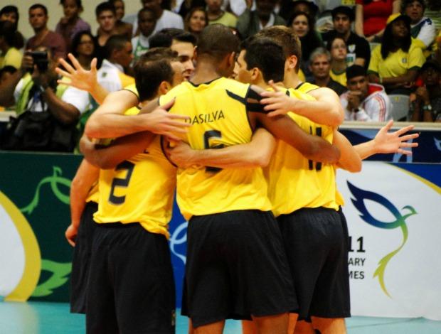 Jogos militares vôlei Brasil x China final  (Foto: Helena Rebello / Globoesporte.com)
