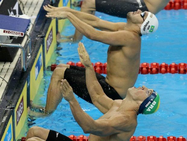 Natação Thiago Pereira Guilherme Guido Mundial de Xangai 100m cosyas eliminatórias (Foto: Satiro Sodré/CBDA)