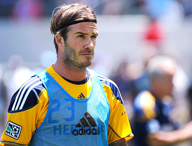Beckham no treino do Galaxy (Foto: AFP)