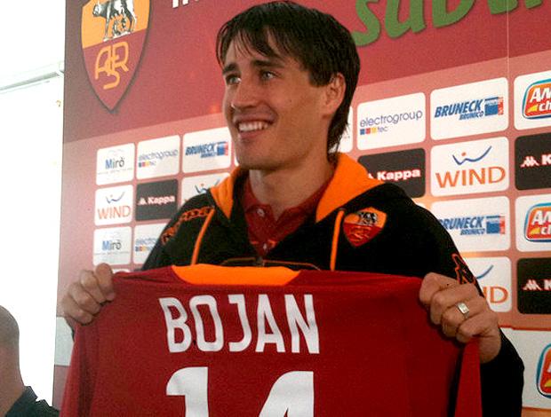 Bojan Krkic roma apresentação (Foto: La Roma.net)
