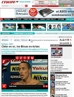 Cesar Cielo jornal L´Equipe  (Foto: Reprodução / L´Equipe)