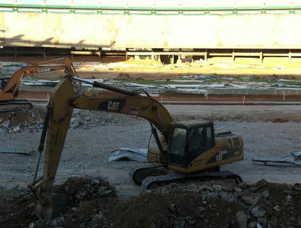 Obras no Estádio Castelão (Foto: Diego Morais/Globoesporte.com)