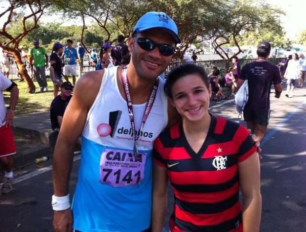 Vc na corrida Jade Barbosa Maratona do Rio (Foto: Divulgação / arquivo pessoal)