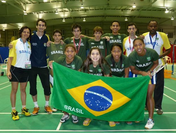 Badminton equipe brasileira no Pan-Americano Júnior (Foto: Divulgação)
