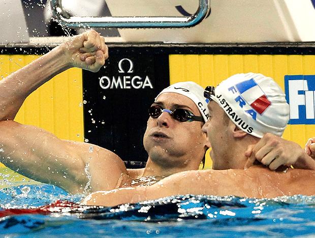 Franceses levam ouro duplo 100 m costas