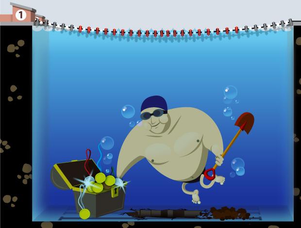 ilustração medalhas natação (Foto: ArteEsporte / Cláudio Roberto)