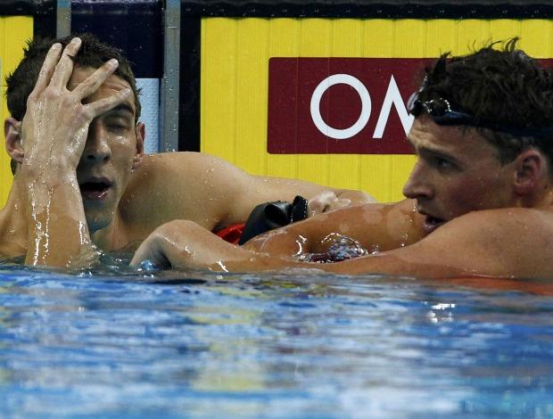 Michael Phelps e Ryan Lochte Mundial de natação Xangai (Foto: Reuters)