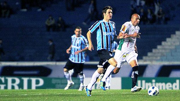 lance de jogo entre Grêmio e América-MG (Foto: Lucas Uebel / Site Oficial do Grêmio)