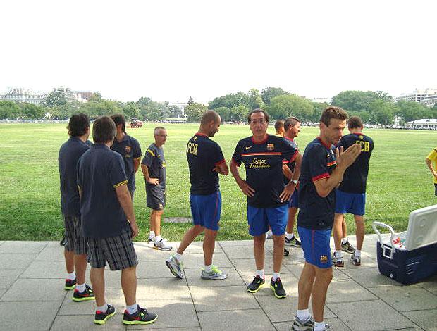 Barcelona proibido de treinar em parque de Washington (Foto: Reprodução / Twitter)