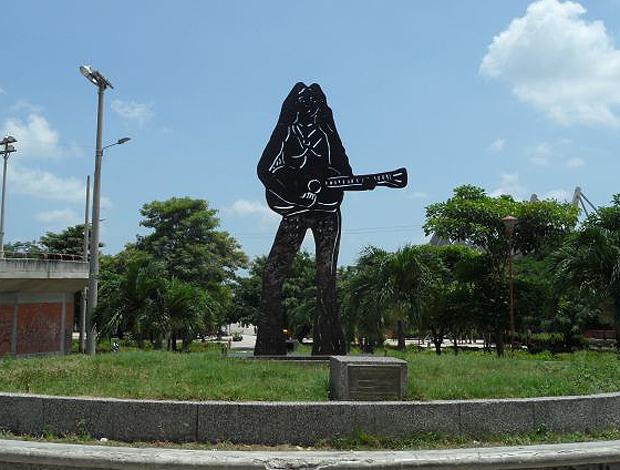 Estátua Shakira (Foto: Victor Canedo / Globoesporte.com)