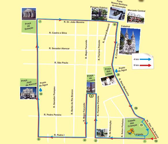 Os participantes irão percorrer as principais praças do Centro. (Foto: Divulgação)