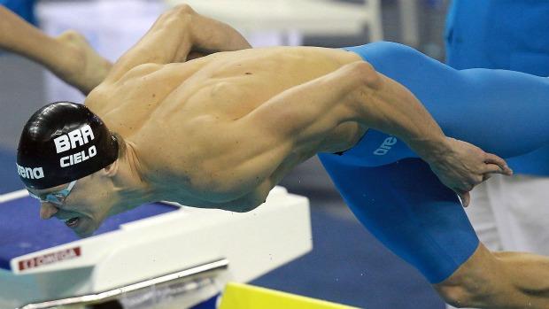Cesar Cielo 50m livre semifinal Mundial de Xangai natação (Foto: Satiro Sodré/AGIF)