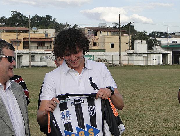 david luiz zagueiro visita tupi (Foto: Divulgação)