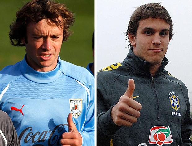 MONTAGEM - Diego lugano e Bruno Uvini (Foto: Globoesporte.com)