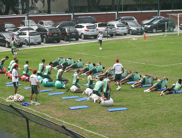 jogadores fluminense treino laranjeiras (Foto: Rafael Cavalieri / Globoesporte.com)