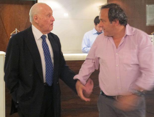 Havelange e Platini Copa 2014 (Foto: Edgard Maciel / Globoesporte.com)
