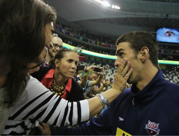 Michael Phelps com a família (Foto: Getty Images)