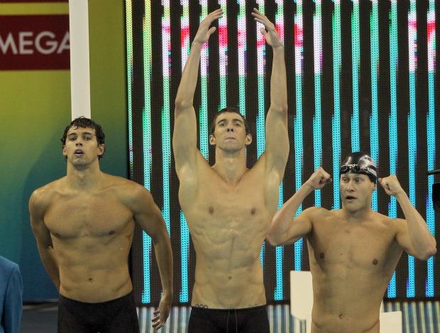 Michael Phelps revezamento 4x200m livre Mundial de Xangai natação (Foto: Getty Images)