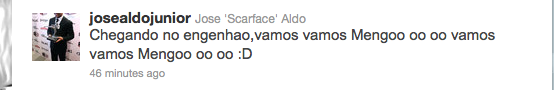 José Aldo posta em seu Twitter (Foto: Reprodução/SporTV)