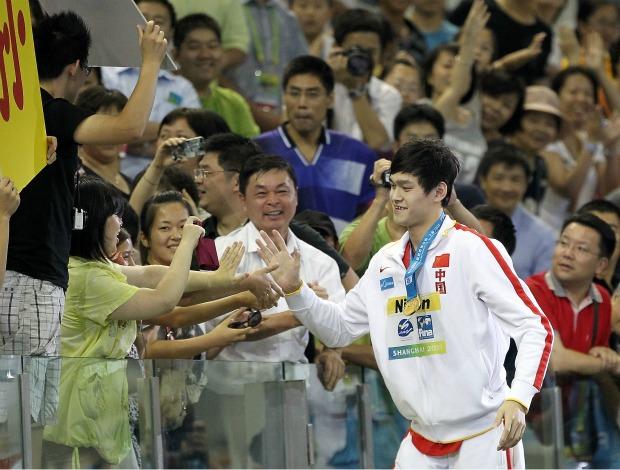 Yang Sun, chinês da natação Mundial de Xangai (Foto: Getty Images)