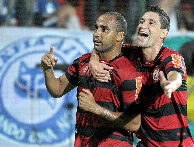 Deivid Thiago Neves gol Flamengo (Foto: Ag. Estado)