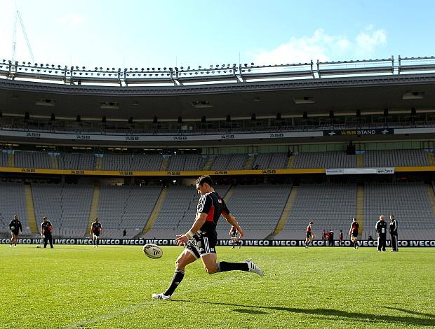 Treino da equipe de rúgbi da Nova Zelândia, os All Blacks (Foto: Getty Images)