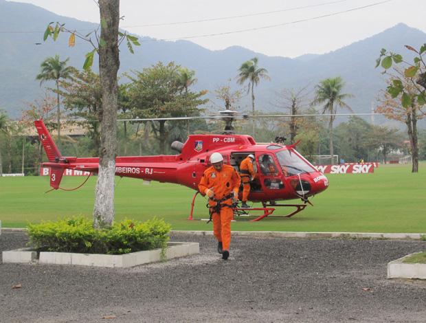 flamengo helicoptero treino (Foto: Janir Junior/Globoesporte.com)