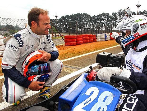 Barrichello no evento de kart (Foto: Carsten Horst / Divulgação)