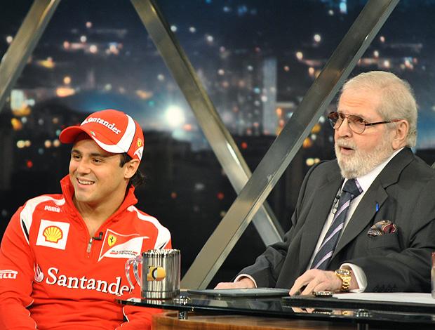 Felipe Massa no programa do Jô (Foto: João Gabriel / Globoesporte.com)