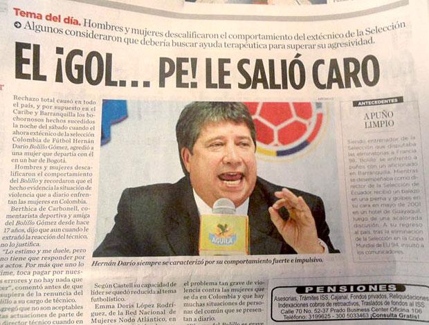 Dario Bolillo Gomez jornal Colômbia (Foto: Victor Canedo / Globoesporte.com)